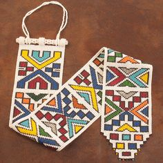 The beadwork represented here comes from two different tribes, the Shona in Zimbabwe, and the Ndebele in South Africa. Tribal Patterns, Bead Loom Patterns, African Quilts, South African Art, Textiles, Sculpture, Cross Stitch Flowers, Loom Beading, Decoration