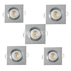3W Verzonken lampen Verzonken ombouw Krachtige LED 200-300 lm Warm wit Koel wit AC 220-240 AC 110-130 V 5 stuks 2017 - $21.99