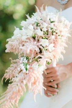 The dreamiest cascading bridal bouquet in soft pinks and white. Photo: @rossini_photography Italy Wedding, Wedding Day, Wedding Planner, Destination Wedding, British Wedding, Wedding Hair And Makeup, Garden Styles, Wedding Vendors, Wedding Details