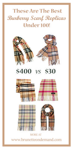 c26d500ef64bb These Are The Best Burberry Scarf Replicas Under 100! Get your Burberry  scarf dupe for