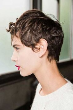 Short messy pixie Hairstyle