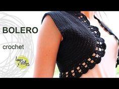 how to crochet flowers bolero shrug jacket with motifs free pattern tutorial - YouTube
