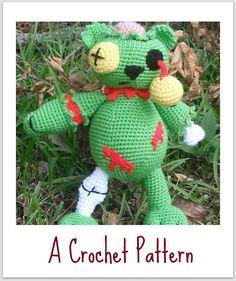 Zombie Bear A Crochet Pattern by Erin Scull. $3.95, via Etsy.