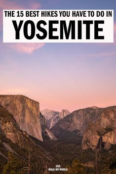 The 16 best hikes in Yosemite (and yes we did them all!) Walk My World National Parks Usa, Yosemite National Park, Mist Trail, Vernal Falls, John Muir Trail, Mirror Lake, Yosemite Falls, Hiking With Kids, Travel Expert