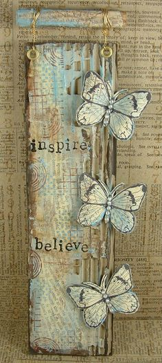 Ink,Paint, Beads: Believe in Butterflies...