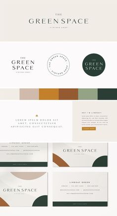 Foxtail Brewing Company — Becca Koebrick Design Studio : Clean logo design for The Green Space, a vintage shop. Simple, funky, and conscious. Keep it fun and simple. Brand designing for a vintage store. Designed By: Becca Koebrick Design Studio Corporate Identity Design, Brand Identity Design, Business Branding, Logo Branding, Brand Design, Logo Design Studio, Logo Design Simple, Visual Identity, Simple Logos