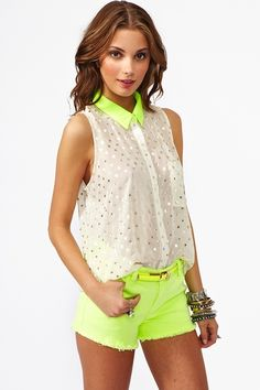 metallic pop blouse / nasty gal