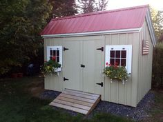 Need a storage shed? Browse Jamaica Cottage Shop to find a large selection of wooden storage shed kits. Choose from basic utility to large or small sheds. Backyard Sheds, Outdoor Sheds, Outdoor Spaces, Outdoor Living, Storage Shed Kits, Cheap Sheds, Large Sheds, Diy Shed Plans, Roof Styles