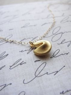 little fortune cookie necklace