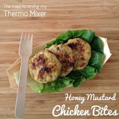Honey Mustard chicken is a big hit in this house. I thought I would do a bit of a twist. These were quite tasty served along with salad but you could shape them much bigger and use as a burger patty or serve in tortillas or spinach wraps. Chicken Rissoles, Rissoles Recipe, Chicken Patties, Honey Mustard Chicken, Chicken Bites, Light Recipes, Lunches And Dinners, Carne, Food Processor Recipes