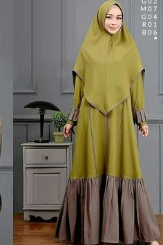 Ootd Hijab, Hijab Dress, Hijab Outfit, Abaya Fashion, Modest Fashion, Women's Fashion, Modern Abaya, Moslem Fashion, Abaya Designs
