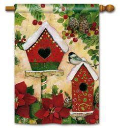 magnet works house flag petite chalet decorative flag at garden house flags - Decorative House Flags