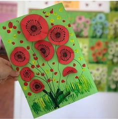 Remembrance Day Activities, Remembrance Day Poppy, Wreath Crafts, Flower Crafts, Felt Crafts, Spring Art Projects, Easy Art Projects, Poppy Craft For Kids, Art For Kids