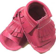Open-toed, Pink Moccs