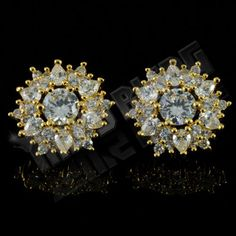 18K-Gold-Plated-ICED-OUT-Cluster-Lab-Diamond-Round-Stud-Micropave-Earrings-14G