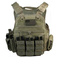 """Body Armor with Level III 10"""" x12"""" Comfort Curve Steel Plates Tactical Carrier 