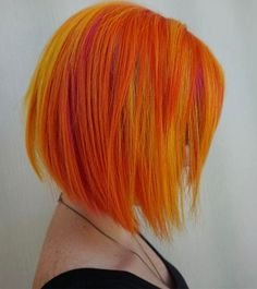 WEBSTA @ stevievincenthairartistry - Sunburst on a Tuesday! Using Pravana Vivids: Orange, Neon Yellow, Yellow