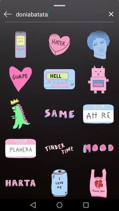 Creative Instagram Stories, Instagram Story Ideas, Ig Story, Insta Story, Gif Instagram, Gifs, Cute Stickers, Female Art, Pictures