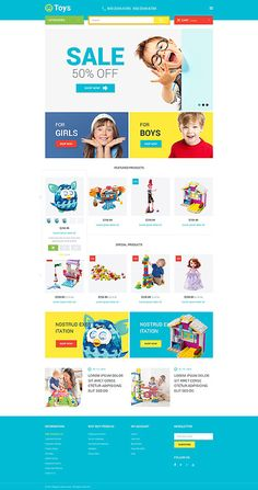 Kids Toys Online Store #Magento #template. #themes #business #responsive #webshop