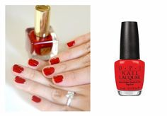 If you love short nails, this post is for you! The Beauty Hunters / OPI Red My Fortune Cookie nail polish