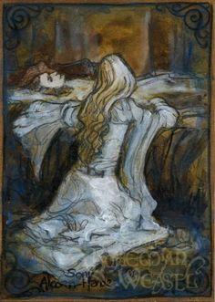 Éowyn At Théodred's Bedside by Soni Alcorn-Hender [©2012]