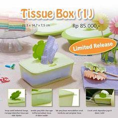 Tupperware Indonesia Tissue Box (1) Nama Produk: Tissue Box (1) Harga: Rp. 85,000,- Kategori: Katalog Tupperware Indonesia Promosi Mei 2013 Deskripsi Produk: 22,5 x 14,7 x 7,5 cm Limited Release