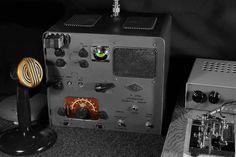 Vintage Gonset 'Communicator' Ham Radio and Microphone