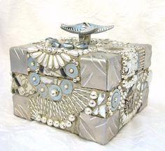 Frances Green - Silver Starfish Mosaic Box