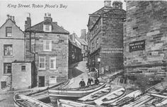 Robin Hood's Bay Beautiful Places In England, Robin Hoods Bay, North East England, Wales, North Yorkshire, Tall Ships, Vintage Pictures, Leeds, Ireland