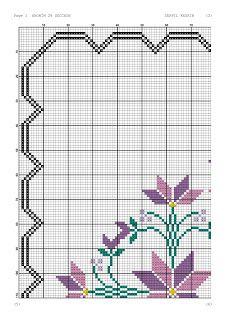 Kanaviçe-dantel işleri: Mor çiçekli seccade örneği- kanaviçe seccade Walnut Shell, Cross Stitch Patterns, Shells, Kids Rugs, Arabesque, Cross Stitch Embroidery, Cross Stitch Letters, Paper Flowers, Tablecloths
