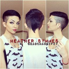 Mohawk; pixie; undercut; comb over