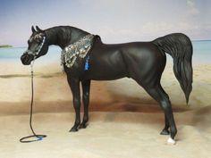 Ethereal Watchin' You Watchin' Me. Black Arabian stallion by Linda Elkjer. Presentation set by Dee Soule Crawley. 2015