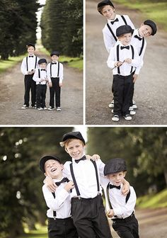 southboundbride-fiona-clair-post-wedding-shoot-004  Love how these boys are dressed! Bow ties, spenders and the hat!
