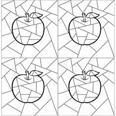 Disegni da colorare         Per i bambini di altra religione       Colorare la mela con i colori caldi e la superficie esterna con i color...