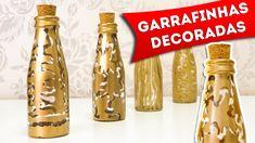 DIY: Como Fazer Garrafas Decoradas - Reciclagem, Artesanato em Vidro, Fa...