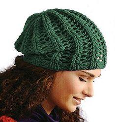 Zelená bavlněná čepice | RUČNÍ PLETENÍ - NÁVODY ZDARMA
