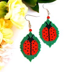 - ✔ Jewelry Crafts Videos Earrings – ✔ Jewelry Crafts V - Beaded Earrings Patterns, Seed Bead Patterns, Beading Patterns, Bead Earrings, Seed Bead Jewelry, Seed Beads, Beaded Jewelry, Seed Bead Tutorials, Beading Tutorials