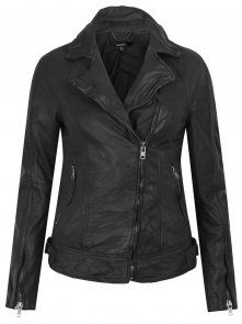 Muubaa Vienna Leather Biker in Eclipse Grey
