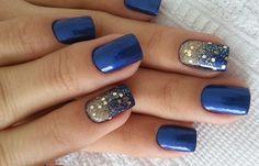Diseños de uñas a la moda actual, diseño de uñas a la moda azul. Clic Follow, Unete al CLUB #decoraciondeuñas #nailsdesign #uñasdeboda