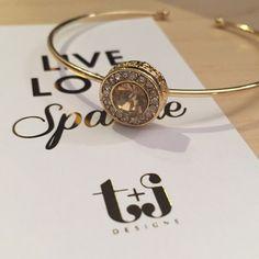 Champagne Jewel Crystal Cuff Champagne Jewel Crystal Cuff by T&J Designs T&J Designs Jewelry Bracelets