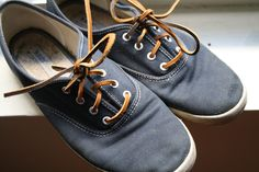 What a good idea?! -- leather shoelaces for keds