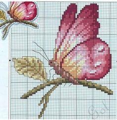 Butterfly Cross Stitch, Cross Stitch Flowers, Needlepoint Stitches, Needlework, Cross Stitch Embroidery, Cross Stitch Patterns, Butterfly Fairy, Beautiful Artwork, Crafty
