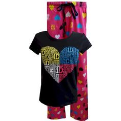 1D I Love One Direction Pajamas for women ($4.90) ❤ liked on Polyvore featuring intimates, pajamas and one direction