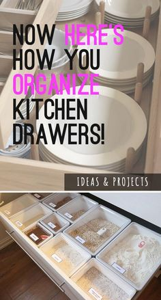 Organizing Kitchen Drawers! - Some really awesome ideas, projects and tutorials with creative ways to organize your kitchen drawers! #organizekitchendrawers #organizingkitchendrawers #diykitchendrawers #kitchendrawerorganizing #diyhomedecor #diykitchenideas #diykitchenprojects #organizingideas #diyorganizingideas #organizingprojects