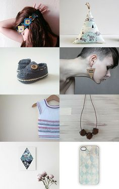 Pale, Geometric and Blue by ilgaz on Etsy--Pinned with TreasuryPin.com