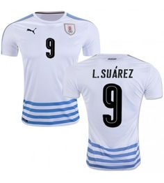 Uruguay 2016 Luis Suarez 9 Bortatröja Kortärmad Neymar, Messi, Fc Barcelona, Sports, Fashion, Uruguay, Hs Sports, Moda, Fashion Styles