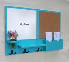 Mail Organizer   Cork Board  White Board Mail by LegacyStudio @Leslie Lippi Lippi Brewer  I think I want this one with a chalk board instead of a white board... Lol