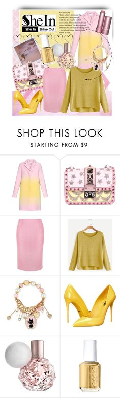 """""""SheIn"""" by lady-madhatter ❤ liked on Polyvore featuring Jonathan Saunders, Band of Outsiders, Valentino, Rosamosario, Betsey Johnson, Dolce&Gabbana and Essie"""