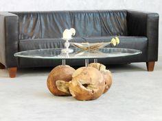 Couchtisch Trio Balls 120x80cm Design by Picassi   Dieser individuelle Couchtisch, durch Meister-Handwerk gefertigt ist ein echter Blickfang in Ihrem Wohnzimmer.  Das Gewicht mit ca. 35kg, sowie...