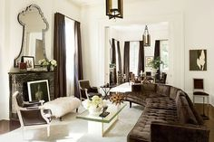 New Orleans home of Sidney Torres IV, interior decoration by architect Lee Ledbetter, Architectural Digest, September 2012 Architectural Digest, Living Room Decor, Living Spaces, Living Rooms, Velvet Room, Design Salon, New Orleans Homes, Interior Inspiration, Interior And Exterior